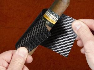 etui à cigare en carbone
