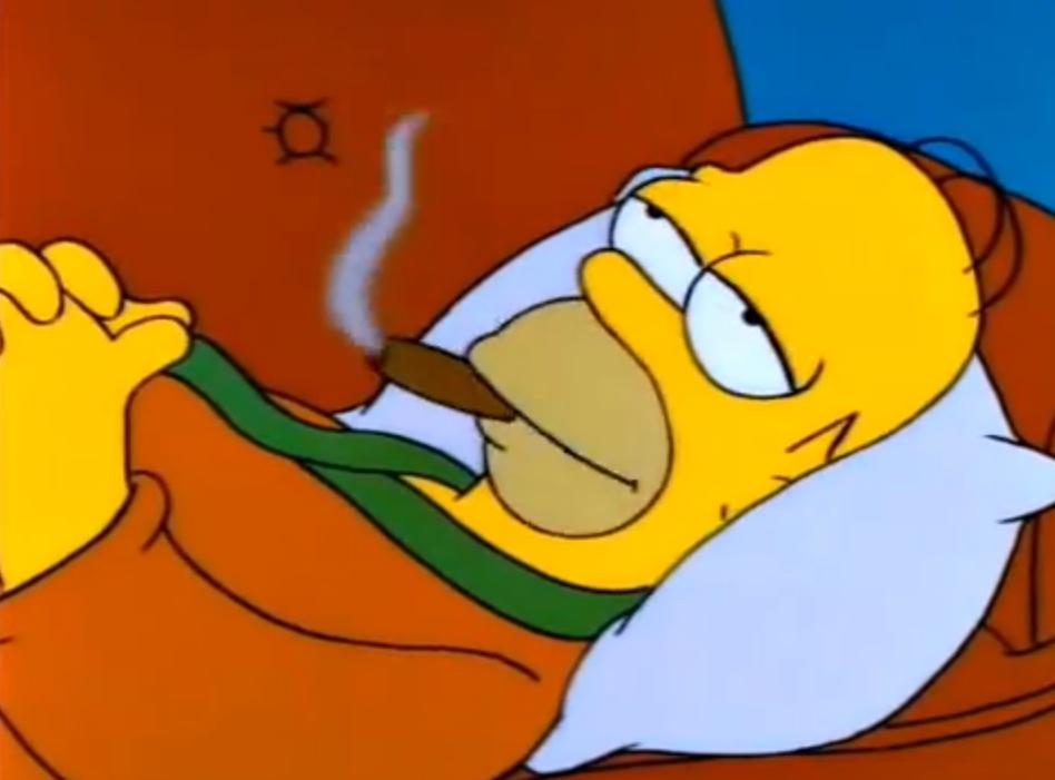 Humer fumant un cigare