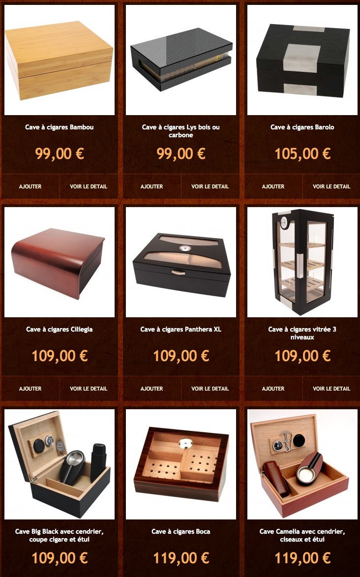 Rubrique dédiée aux cave à cigares sur le site http://www.Cave-a-cigares.com