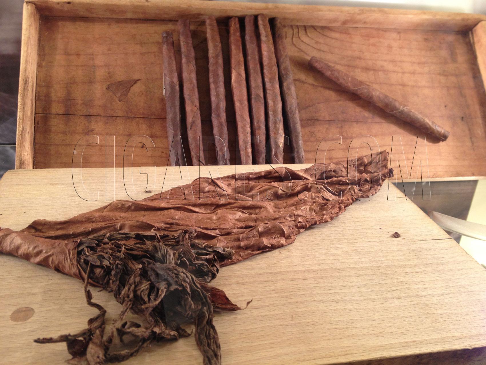 Il faut ouvrir le cigare pour savoir si il a été fait à la main ou à la machine...